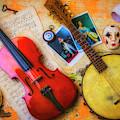 Banjo Violin Still Life by Garry Gay