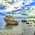 Bansai Rock, Lake Tahoe, Nevada, Panorama by Don Schimmel