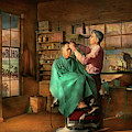 Barber - Jh Parham Barber And Notary Public 1941 by Mike Savad
