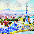 Barcelona, Parc Guell - 14 by Andrea Mazzocchetti