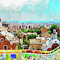 Barcelona, Parc Guell - 15 by Andrea Mazzocchetti