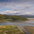 Barmouth And The Mawddach Estuary Aerial Panorama by Keith Morris