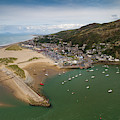 Barmouth Wales From The Air by Keith Morris
