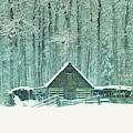 Barn In Snowfall by Jeff Swan