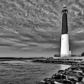 Barnegat Lighthouse Afternoon Bw by Susan Candelario