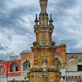 Baroque Water Fountain Tower  by Steve Estvanik