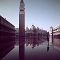 Basilica Of San Marco & Campanile On Pia by Dmitri Kessel