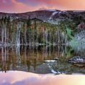 Basin Lake Sunset by Leland D Howard