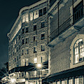 Basin Park Hotel In Downtown Eureka Springs Arkansas - Sepia by Gregory Ballos