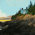 Bass Harbor Lighthouse Poster by Dan Sproul