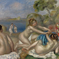 Bathers Playing With A Crab, Circa 1897  by Pierre Auguste Renoir