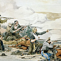 Battle Of Beechers Island, 1868, Custers Last Stand by Frederic Remington