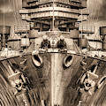 Battleship U S S Texas In Sepia by JC Findley