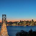 Bay Bridge And San Francisco Skyline At by Thomas Winz