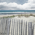 Beach Fences On The Dunes In Gray by Debra and Dave Vanderlaan