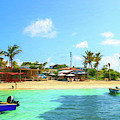 Beach Front At Island Harbour Anguilla by Ola Allen