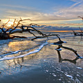 Beach In Blue by Debra and Dave Vanderlaan