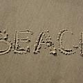 Beach Written Text  by Mark Starren