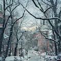 Beacon Hill Morning Snow by Joann Vitali