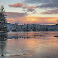 Bear Pond Transitions To Winter by Darylann Leonard Photography