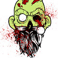 Bearded Zombie Undead With Beard Halloween Party Light by Nikita Goel