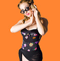 Beautiful 1950s Pinup Woman Listening To Sea Shell by Jorgo Photography - Wall Art Gallery
