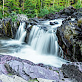 Beautiful Red Rock Falls, Glacier National Park, Montana by Kay Brewer