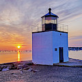 Beautiful Sunrise On Derby Wharf Salem Ma Derby Light by Toby McGuire