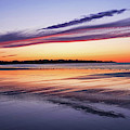 Beautiful Sunrise Over Long Sands Beach York Maine Long Beach Reflection by Toby McGuire