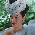 Beautiful Woman Wearing Headdress by Tom Kelley Archive