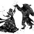 Beauty And The Beast Dancing by Erzebet S