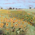 Bedford County Sunflower Field by Donna Tuten