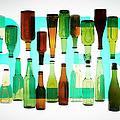 Beer Bottles Against The Word Beer by Adrian Burke