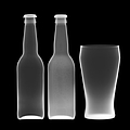 Beer Bottles And Drinking Glass by Nick Veasey