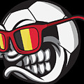 Belgium Angry Soccer Ball With Sunglasses Fanshirt by Festivalshirt