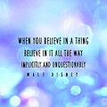 Believe Big Quote by Jamart Photography