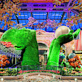 Bellagio Conservatory Spring Display Ultra Wide Trees 2018 2 To 1 Aspect Ratio by Aloha Art