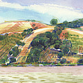 Benicia Across The Strait From 9th Street Park by Judith Kunzle