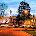 Bentonville Town Square Fountain In Winter by Gregory Ballos