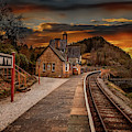 Berwyn Railway Station Sunset by Adrian Evans