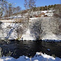 Beside The River Livet In Winter by Phil Banks