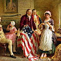 Betsy Ross And General George Washington by War Is Hell Store