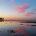 Beverly Ma Dane Street Beach Morning Reflection Red Clouds by Toby McGuire