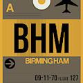 Bhm Birmingham Luggage Tag I by Naxart Studio