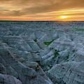 Big Badlands Overlook Sunrise Badlands National Park South Dakota by Joan Carroll