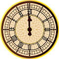Big Ben Midnight Clock Face by Bigalbaloo Stock