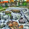 Big Brother Reedy River Falls Park Greenville South Carolina Art by Reid Callaway