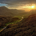 Big Hill Sunset At Big Bend by Harriet Feagin