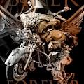 Biker Forever In Vintage Tones by Debra and Dave Vanderlaan