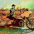 Biker On The Loop Abstracted by Alice Gipson